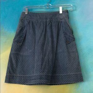 Anthropologie denim skirt size 0/2